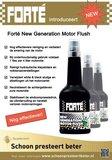 Forté New generation Motor Flush om de motor van binnen te reinigen.2