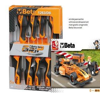 Beta schroevendraaierset 8-delig met gratis Beta Bouwset Formule 1